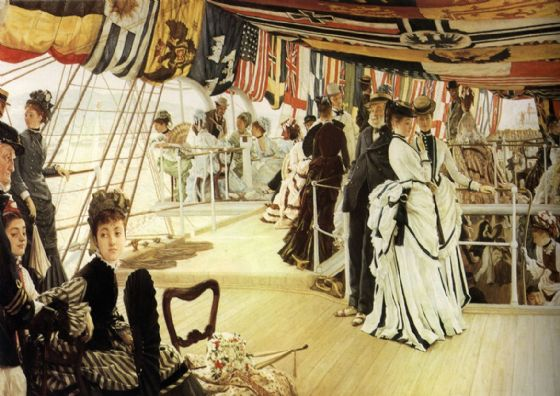 Tissot, James Jacques Joseph: The Ball on Shipboard. Fine Art Print/Poster. Sizes: A4/A3/A2/A1 (001639)